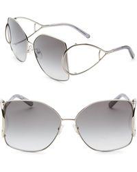 Chloé - Jackson Oversized Metal Square Sunglasses - Lyst