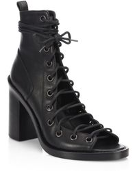 Ann Demeulemeester - Leather Lace-up Sandals - Lyst