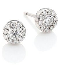 Hearts On Fire - Fulfillment Diamond & 18k White Gold Stud Earrings - Lyst