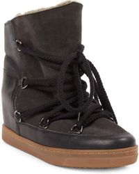 Isabel Marant - Nowles Shearling Snow Booties - Lyst
