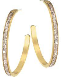 Shana Gulati - Harper Sliced Raw Diamond & 18k Gold Hoop Earrings - Lyst