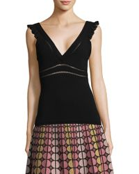 M Missoni - Deep V-neck Tank Top - Lyst