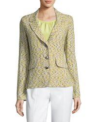 St. John - Romee Tweed Knit Jacket - Lyst