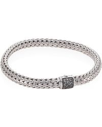 John Hardy - Classic Chain Small Grey Sapphire & Sterling Silver Bracelet - Lyst