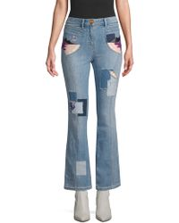 COACH - Embroidered Denim Jeans - Lyst