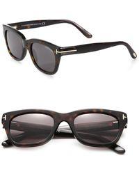 10c9107ba738 Tom Ford - Snowdon Rectangular 52mm Acetate Sunglasses - Lyst
