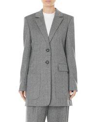 Tibi - Herringbone Virgin Wool & Cashmere Car Coat - Lyst