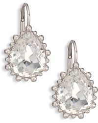 Anzie | Dew Drop White Topaz Drop Earrings | Lyst