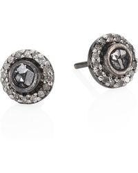 Shana Gulati - Shlylie Raw Sliced Diamond Stud Earrings - Lyst