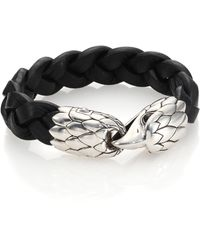 John Hardy - Classic Chain Woven Leather Eagle Bracelet - Lyst