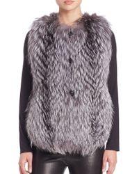 Saks Fifth Avenue - Feathered Fox Fur Vest - Lyst