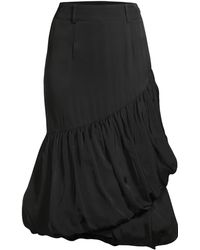 8559afab8 we11done - Women's Asymmetric Puff Around Bubble Skirt - Black - Lyst