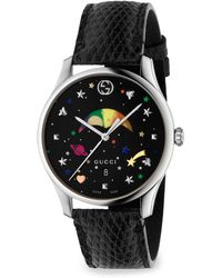 Gucci - G-timeless Rainbow Moonphase Lizard Strap Watch - Lyst