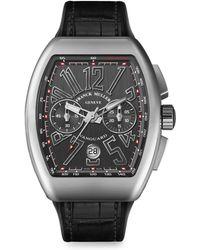 Franck Muller - Vanguard Stainless Steel Chronograph Watch - Lyst