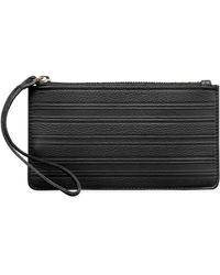 Graphic Image - Pebbled Leather Wristlet - Lyst