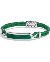 David Yurman - Engraved Silver Bracelet - Lyst