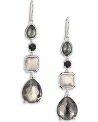 Ippolita - Rock Candy Black Tie Semi-precious Multi-stone & Sterling Silver Mixed Linear Drop Earrings - Lyst