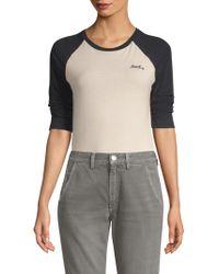 AMO - Raglan Baseball Shirt - Lyst