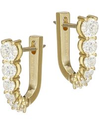 Melissa Kaye - Aria 18k Yellow Gold & Diamond Hoop Earrings - Lyst