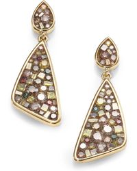 Plevé - Cinnamon Diamond & 18k Yellow Gold Mini Kite Earrings - Lyst