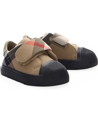 Burberry - Baby's Beech Cotton Canvas Sneakers - Lyst