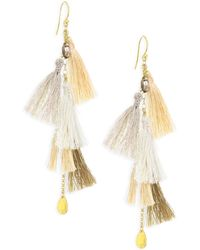 Chan Luu - Smokey Quartz & Multi-tassel Drop Earrings - Lyst