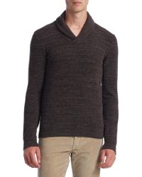 Saks Fifth Avenue - Collection Shawl Collar Sweater - Lyst