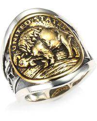 King Baby Studio - Sterling Silver & Nickel Buffalo Ring - Lyst