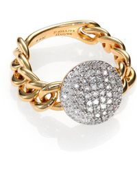 Phillips House - Affair Diamond & 14k Yellow Gold Infinity Mini-chain Link Ring - Lyst