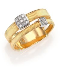 Marco Bicego - Masai Diamond, 18k Yellow Gold & 18k White Gold Station Ring - Lyst