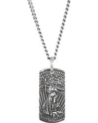 King Baby Studio - American Voices Silver Liberty Dog Tag Necklace - Lyst