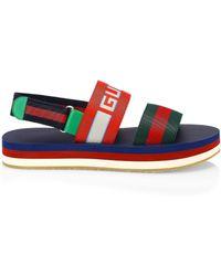 289abfafa81 Gucci - Men s Stripe Strap Sandal - Green Red Blue - Size 9 Uk (10