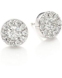 Hearts On Fire - Diamond & 18k White Gold Fulfillment Stud Earrings - Lyst