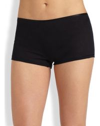 Hanro - Cotton Seamless Boyshorts - Lyst