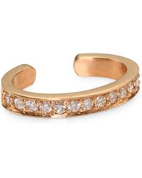 Anita Ko - 18k Rose Gold Diamond Pave Ear Cuff - Lyst