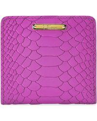 Gigi New York | Mini Python-embossed Leather Bi-fold Wallet | Lyst