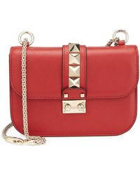 Valentino - Rocklock Small Leather Crossbody Bag - Lyst