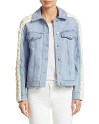 Tanya Taylor - Percy Cable-knit Denim Jacket - Lyst