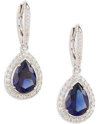 Adriana Orsini - Crystal Pear Drop Earrings - Lyst