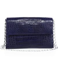 Nancy Gonzalez - Double Chain Crocodile Leather Shoulder Bag - Lyst