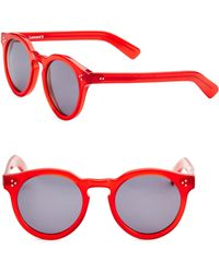 Illesteva - Leonard Ii Red 50mm Oversized Round Sunglasses - Lyst