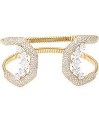 Adriana Orsini - Pavé Crystal Flexible Wide Cuff Bracelet - Lyst