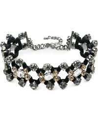ABS By Allen Schwartz - Smoke & Mirrors Crystal Choker - Lyst
