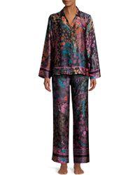 Natori - Josie Nouveau Two-piece Silk Pajama Set - Lyst