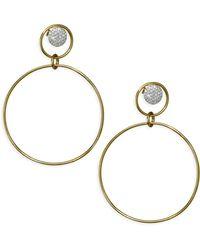 Phillips House - Diamond & 14k Yellow White Gold Earrings - Lyst