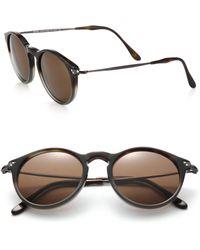 d6232e53b2d Kyme - Men s Miki Light 48mm Round Mirror Sunglasses - Brown - Lyst