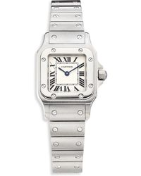 Cartier - Santos De Galbee Small Stainless Steel Bracelet Watch - Lyst