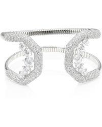 Adriana Orsini - Pave Crystal Flexible Cuff Bracelet - Lyst