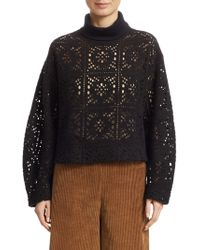 See By Chloé - Lacey Crop Turtleneck - Lyst