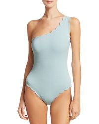 Marysia Swim - One-piece One-shoulder Scallop Swimsuit - Lyst